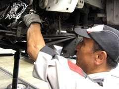 HondaCars下関南にある整備工場です。こちらで納車整備を行います。日常のメンテナンスもお任せください。