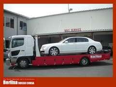 積載車はお車を快適にお運びする為4t車をベースにワイド/ロングボディー/重量級まで対応できる様準備しております