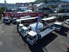 バン・トラック・特殊車輌・バスの専門店です。全国納車可能!!いすゞ ふそう ヒノ キャンターUD等のトラックを扱っています