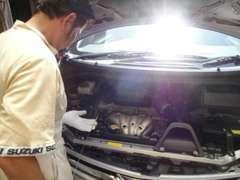 【点検・整備】入庫した車は各部を点検し車の状態をチェック致します。車検の有る車も12ケ月・試乗点検整備渡しです!