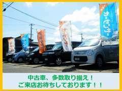 中古車を多数取り揃えています!こちらの店舗とは別に西平田店でも在庫がございます。ぜひ、ご来店ください。