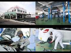 国運輸局指定民間車検工場にて、車検はもちろん、点検、修理、カーエステ、鈑金塗装など、カーライフをトータルでサポート♪