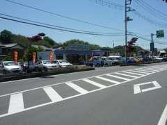 上信越自動車道・富岡インター降りてすぐ!青い看板が目印です!