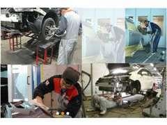 塗装や板金などの修理も自社工場さらに、ベテランスタッフがいるからまかせて安心!