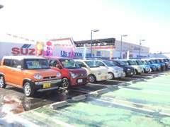 ■スズキブランドの中古車を中心に、常時50台以上展示しています。ご希望の車がありましたら、是非ご相談下さい♪