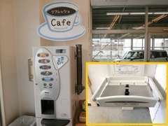 !トイレ入口に、オムツ替え台も設置してあります。 尚、新型コロナの関係で、フリードリンクなし(ペットボトルのお茶のみ)。