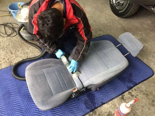 Aプラン画像:【リブートの全車標準仕上げ内容】カーペットやシートなどの布地もクリーニングしております♪