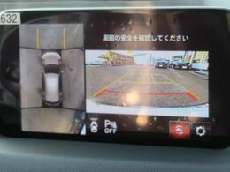 メーカーオプションの全方位周囲カメラ(40000円)が装備されています♪上から見下ろした様な映像が映し出されます♪便利な装備ですね♪