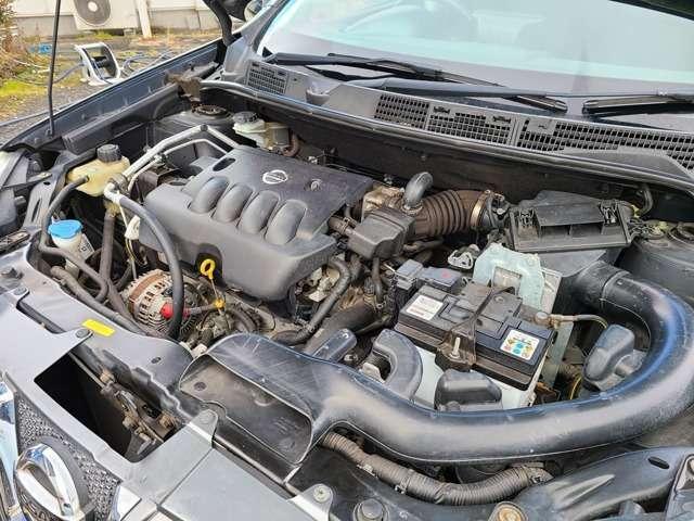 エンジンはタイミングチェーンを使用しているので10万km毎のタイミングベルトの交換も必要がありません♪エンジンに異音や異臭などもなく吹けも良好で安心して長くお乗り頂けます♪