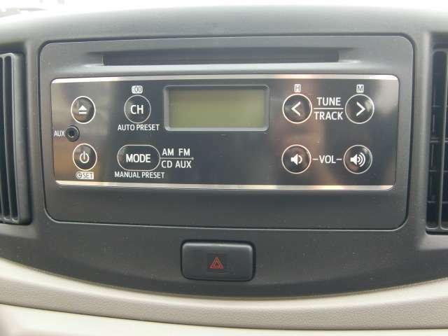 AUXで、スマホ等と接続し、音楽を聴くこともできます。