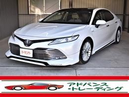 トヨタ カムリ 2.5 G レザーパッケージ HV ガラスルーフ シートヒーター Bカメラ