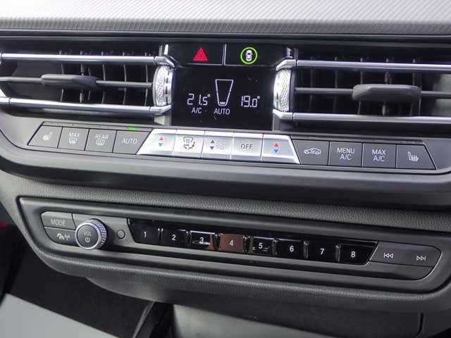 2ゾーン・オートマチック・エア・コンディショナーですので運転席も助手席も快適な温度に設定可能です。シートヒーター機能付きです。