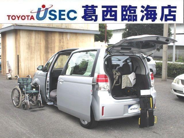 助手席手動回転シートのスペイドが入荷!写真の車イスは参照用となります。福祉車両!