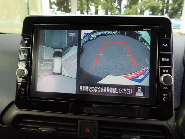 アラウンドビューモニター付き!クルマを真上から見下ろしているかのように周囲の状況を直感的に把握し、安心して駐車が行えるので、とても便利です♪