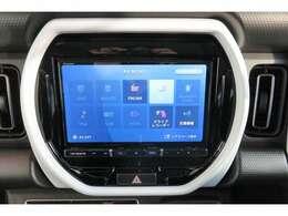カロッツェリア製8インチナビゲーションです。地デジフルセグ(フルHD)、8倍速CD録音機能、Bluetooth機能付き。スマートフォンのように操作をすることが出来ます。