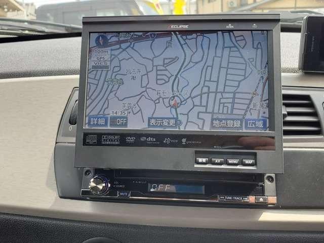 この当時の輸入車特有のw1dinサイズしかAUDIOがインストールできないのでお決まりのECLIPSE製インダッシュナビゲーションです!AM/FM/CD/DVD等のメディアが楽しめますので十分な装備です!