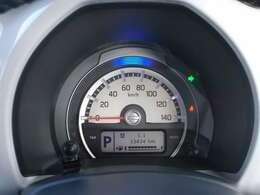 3つの光でエコドライブをサポート☆通常時:ブルー☆燃費が良い状態:グリーン☆減速エネルギー回生時:ホワイト☆