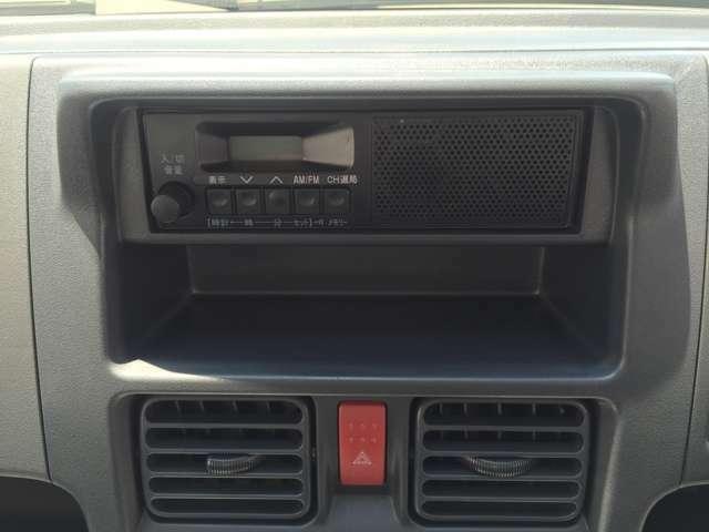 AM FMラジオデッキを搭載しておりますので、運転中も音楽を聴きながら走行することができます♪もちろんオーディオやナビゲーションへの変更も可能です☆