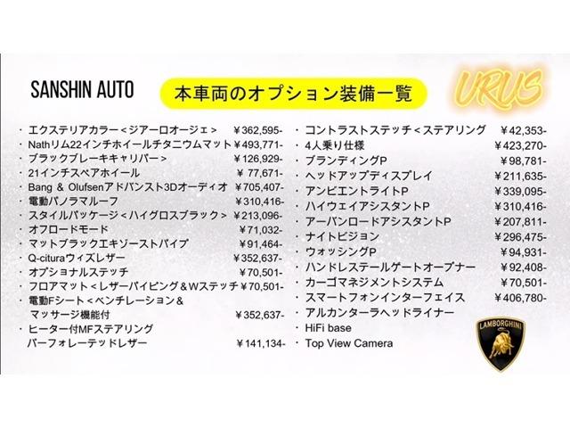 オプション総額は603万円になります!
