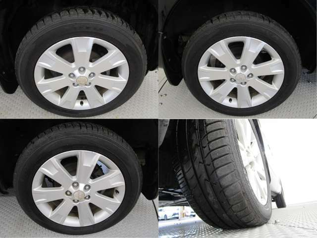 タイヤサイズは225/55R18 スタッドレスタイヤは16インチもご使用いただけます