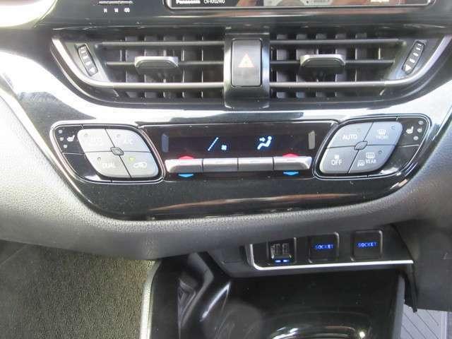 左右独立温度コントロールオートエアコンスイッチパネル エコ空調モードスイッチ付