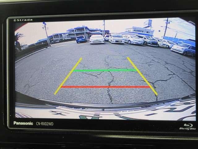バックモニター 見にくい場所も楽々駐車 後ろが見えるので安心