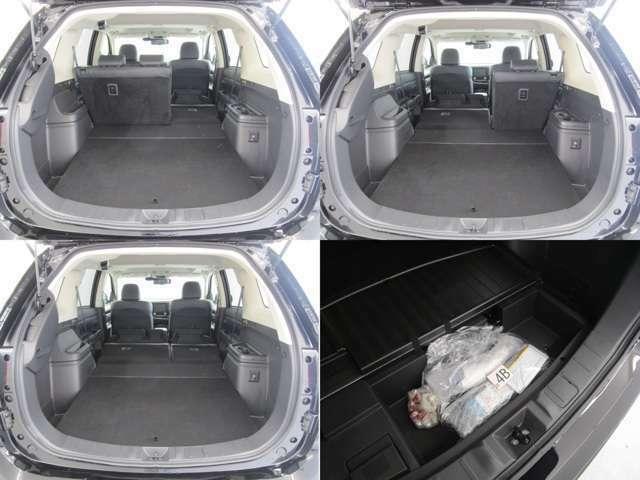 車中泊なども可能な広々ラゲッジルーム
