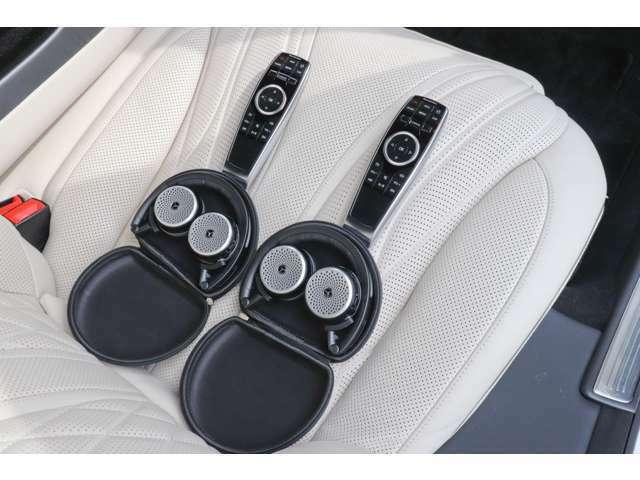 ショーファーパッケージ専用リモコン、ワイヤレスヘッドホン
