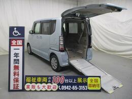 ホンダ N-BOX+ 福祉車両・スロープ・4人乗・ワンオーナー 走行13000K・禁煙車・電動ウィンチ・保証書