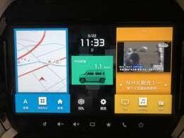 メーカーオプション9インチHDディスプレー付き!携帯とも連動でTVも楽しめます!!