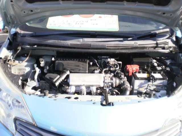 水冷直列3気筒DOHC12バルブSチャージャーエンジン!燃費良く軽快な走りです!