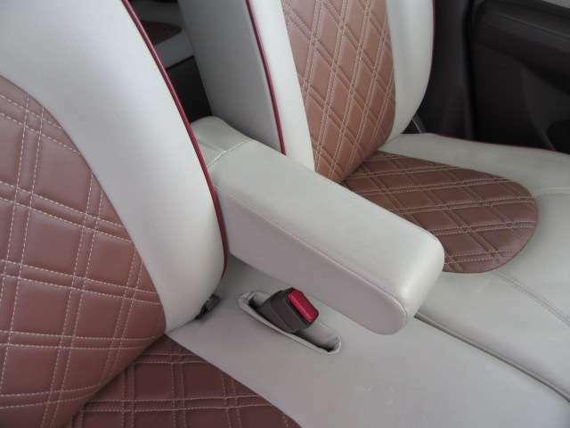 ロングドライブ時の疲労軽減に大きく貢献するアームレストはフロント席に装備!優しいアイテムですね!