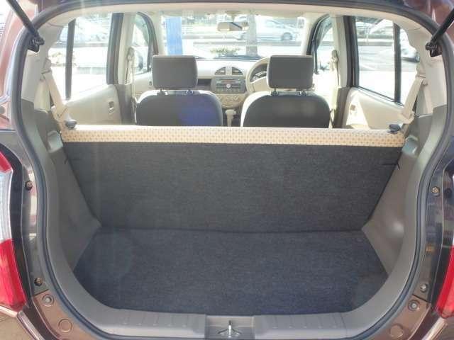 後部座席を使用してもカーゴスペースはしっかりと確保しています。