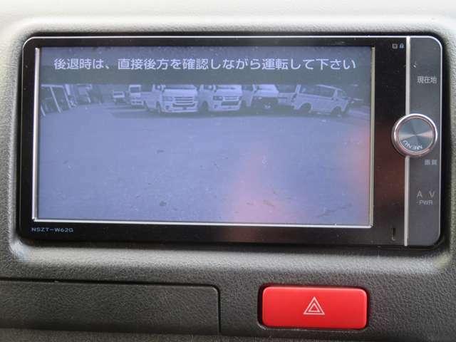 バックモニター完備で運転しやすいです。