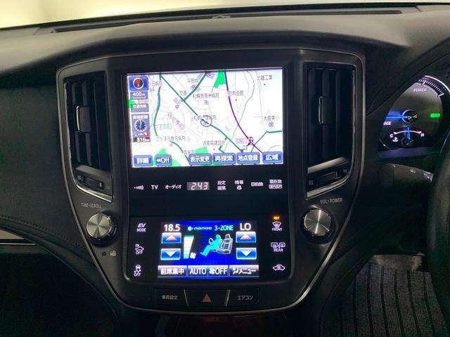 純正ナビ♪エアコンは運転席、助手席でそれぞれ温度調整可能です!