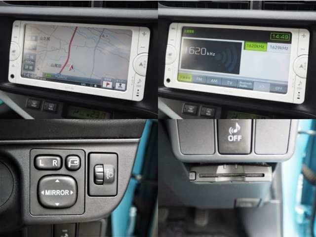 純正メモリーナビ・ワンセグTV・CD再生・Bluetooth