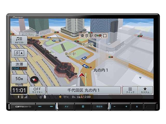 Aプラン画像:パイオニア 楽ナビ 8インチ AVIC-RL711-E 「HDパネル」「8V型ラージサイズ」「12セグ/ワンセグ」「HDMI入出力」「DVD/CD」「Bluetooth」