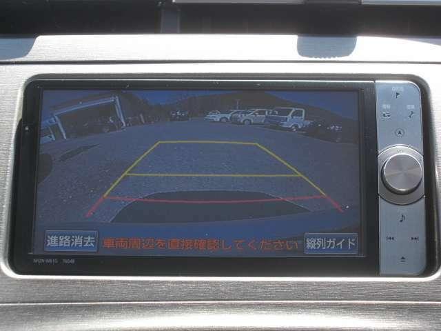 バックカメラがあれば車庫入れの際も安心です♪
