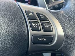 【レーダークルーズコントロール】アクセルペダルを踏まずに設定した車速を保つ事が出来ます。高速運転やロングドライブで活躍します。
