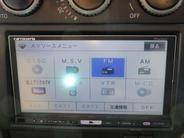 社外のフルセグTV付ナビゲーションが装備されています。