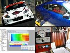 エンジン出力測定・インジェクター点検測定・ソフト/ハードウェア開発などお車に関する事は幅広く行っております!!