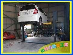 当社は中国運輸局認証整備工場です。車検、点検整備、板金・塗装などお気軽にご相談下さい。