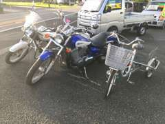 当社はお車だけでなく、バイクも取り扱っております☆種類もいろいろ♪ぜひご相談ください!!