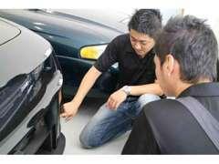 車輌販売以外にも修理や鈑金・車検もお気軽に御相談下さい。