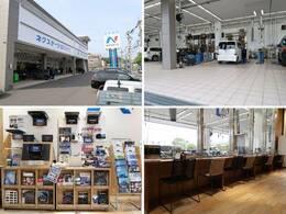 最新の設備を導入した大きな整備工場も併設!車検や整備、板金修理までお任せ下さい!販売後のアフターもしっかりとフォローいたします。