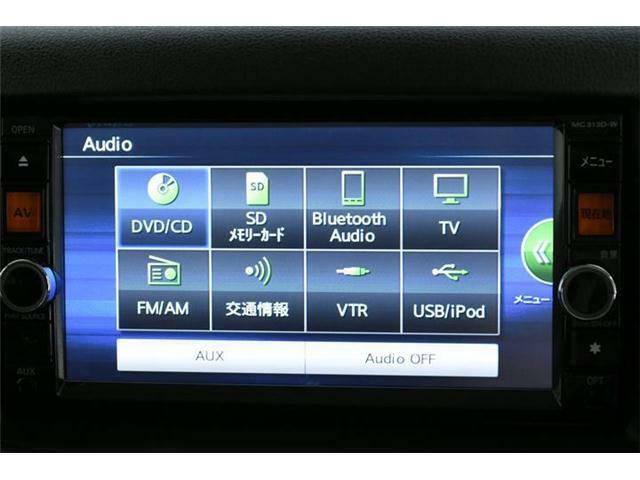 フルセグTVにDVD、Bluetoothで音楽だって聞き放題♪