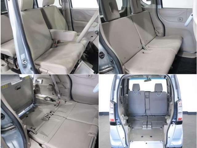 【運転席】ベージュを基調としたインテリアにベージュのベンチシート。シートリフターで座面の高さを調整可能です。純正フロアマット付です。