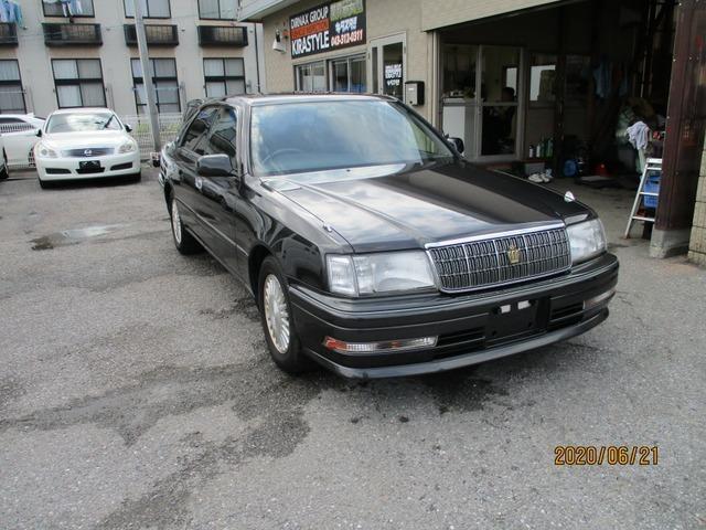 H.7(1995)年 トヨタ クラウン 2.5 ロイヤルツーリング 社外ナビ TV 車検整備2年付 タイベル済 グレー 走行92,912km