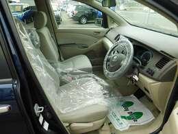 広く視界の良い運転席です。