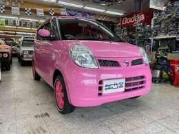 新品ララパーム14インチAW+ナンカン・リミックス・ホワイトリボン夏タイヤと相まって更にピンクモコモコ感が増してます!